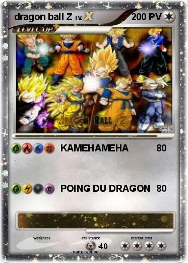 Pok mon dragon ball z 61 61 kamehameha ma carte pok mon - Carte pokemon dragon ...