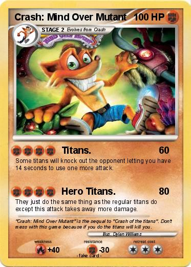 Pokémon Crash Mind Over Mutant Titans My Pokemon Card
