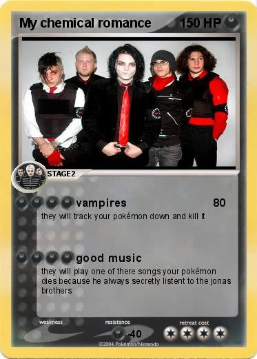Pok 233 Mon My Chemical Romance 3 3 Vampires My Pokemon Card