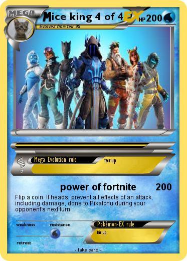 Pokemon Ice King 4 Of 4 4 Power Of Fortnite My Pokemon Card