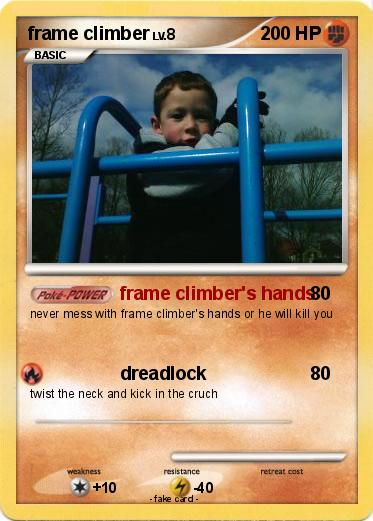 Pokémon frame climber - frame climber\'s hands - My Pokemon Card