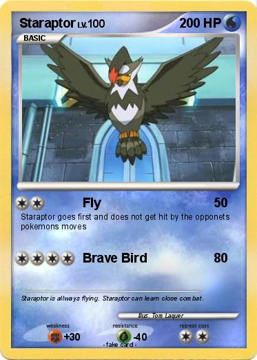 When does Staraptor learn Brave Bird in Pokemon Diamond?