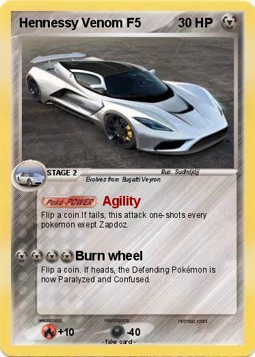 Pokmon Hennessy Venom F5 Agility My Pokemon Card