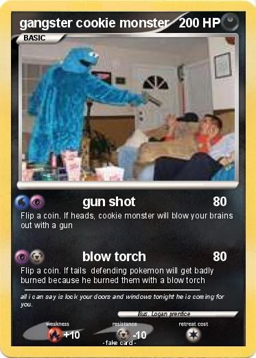 Pokémon Gangster Cookie Monster 4 4 Gun Shot My Pokemon Card