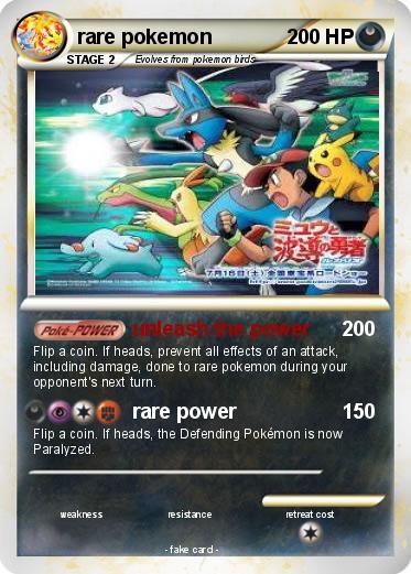 Pok mon rare pokemon 5 5 unleash the power my pokemon card - Pokemon x pokemon rare ...