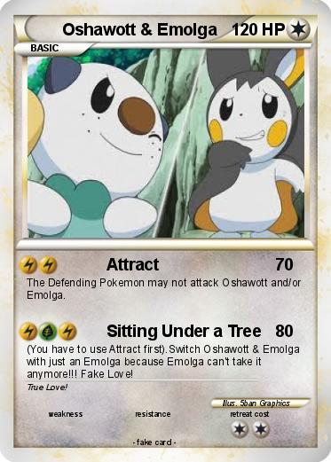 Pokémon Oshawott Emolga - Attract - My Pokemon Card