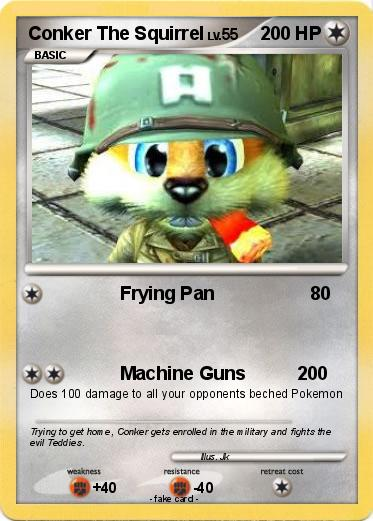 Pok 233 Mon Conker The Squirrel Frying Pan My Pokemon Card