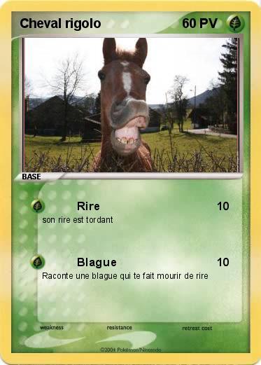 Pok mon cheval rigolo rire ma carte pok mon - Cheval rigolo ...