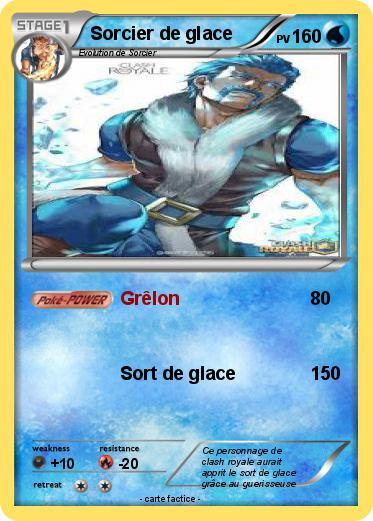 Pok mon sorcier de glace 7 7 gr lon ma carte pok mon for Deck clash royale sorcier de glace