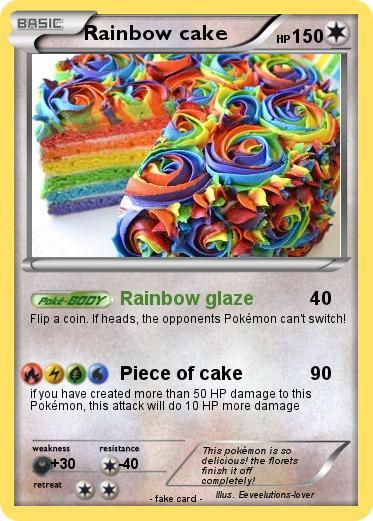 Pokemon Rainbow Cake 7 7 Rainbow Glaze My Pokemon Card