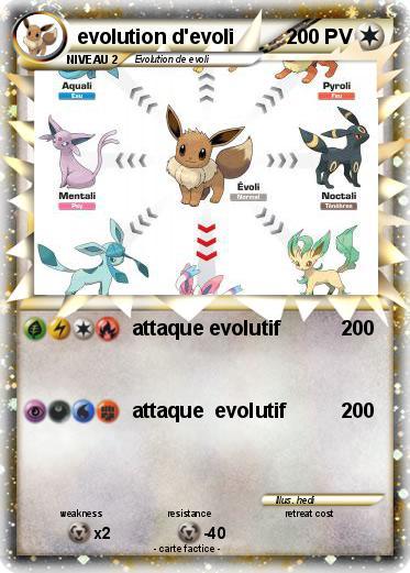 Pok mon evolution d evoli 9 9 attaque evolutif ma - Famille evoli pokemon ...