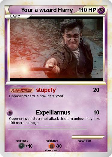pokémon your a wizard harry 2 2 stupefy my pokemon card