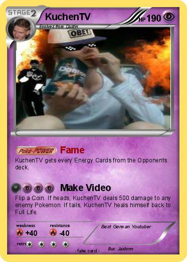 Pokemon Kuchentv 2 2 Fame My Pokemon Card