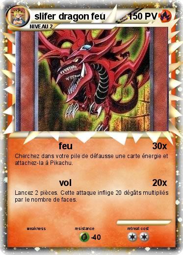Pok mon slifer dragon feu feu ma carte pok mon - Coloriage pokemon feu ...