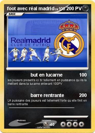 Coloriage De Foot Real Madrid.Pokemon Foot Avec Real Madrid But En Lucarne Ma Carte Pokemon