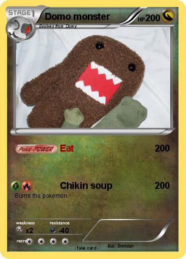 pokémon domo monster eat my pokemon card