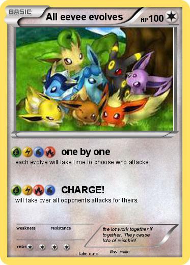 Pokemon All Eevee Evolves