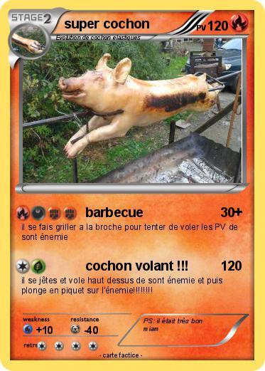 Pok mon super cochon 22 22 barbecue ma carte pok mon - Cochon pokemon ...
