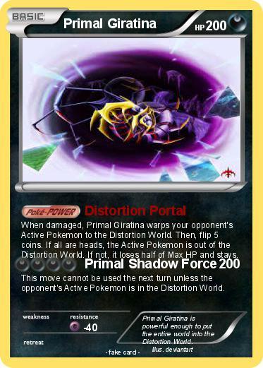 Pokémon Primal Giratina 4 4 Distortion Portal My Pokemon Card