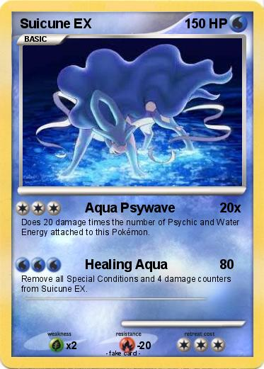 Pokémon Suicune EX 84 84 - Aqua Psywave - My Pokemon Card