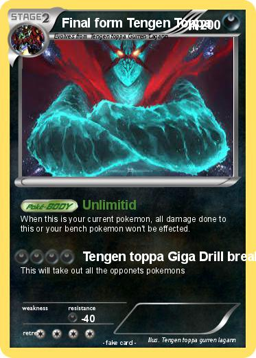 Pokémon Final form Tengen Toppa - Unlimitid - My Pokemon Card