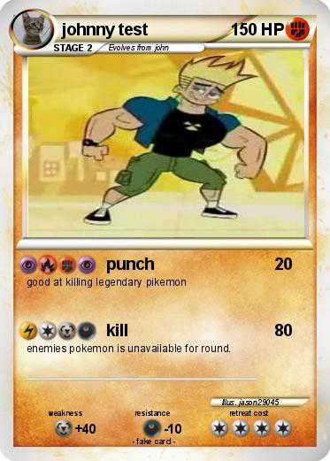Pokmon johnny test 11 11  punch  My Pokemon Card