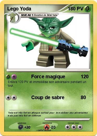 Pok mon lego yoda 10 10 force magique ma carte pok mon - Maitre yoda lego ...