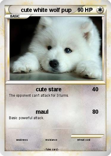 Pokemon cute white wolf pup