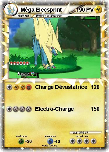 Pok mon mega elecsprint charge d vastatrice ma carte - Mega elecsprint ...
