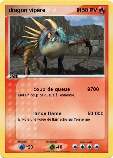 Pok mon dragon vipere 9 9 coup de queue 9700 ma carte pok mon - Dessin de vipere ...