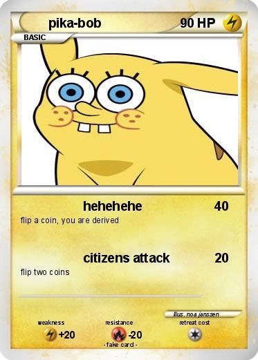 pokémon pika bob hehehehe my pokemon card