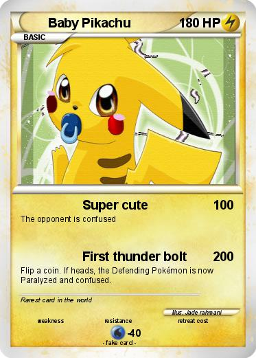 Pokémon Baby Pikachu 116 116 Super Cute My Pokemon Card