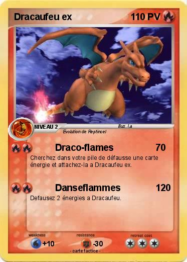 Pok mon dracaufeu ex 125 125 draco flames ma carte pok mon - Pokemon dracaufeu ex ...