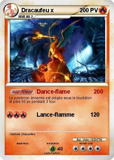 Pok mon dracaufeu x 1559x dance flame 200 ma carte pok mon - Pokemon dracaufeu x ...