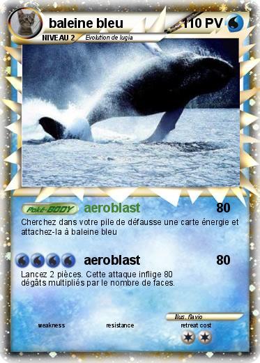Pok mon baleine bleu aeroblast ma carte pok mon - Pokemon baleine ...