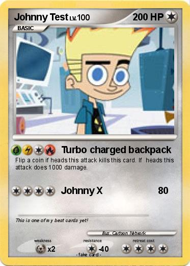 Pokmon Johnny Test 19 19  Turbo charged backpack  My Pokemon Card