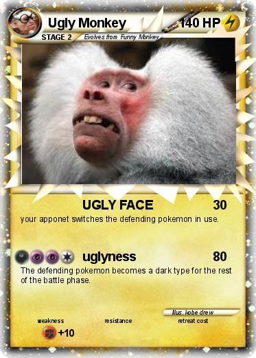 pok233mon ugly monkey 1 1 ugly face my pokemon card