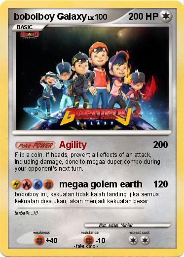 Pokémon boboiboy Galaxy Agility My Pokemon Card