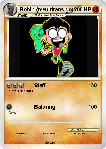 Pok 233 Mon Robin Teen Titans Go Staff My Pokemon Card
