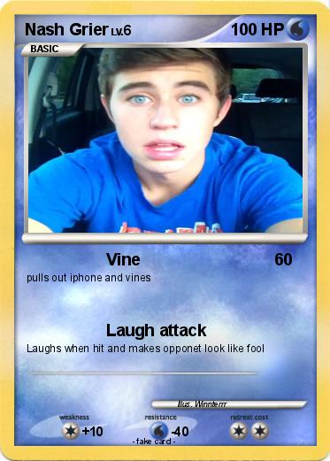 pokémon nash grier vine my pokemon card