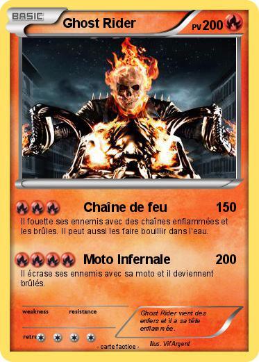 Pok mon ghost rider 554 554 cha ne de feu ma carte pok mon - Dessin de ghost rider ...