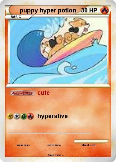 Pokémon Puppy Hyper Potion Cute My Pokemon Card
