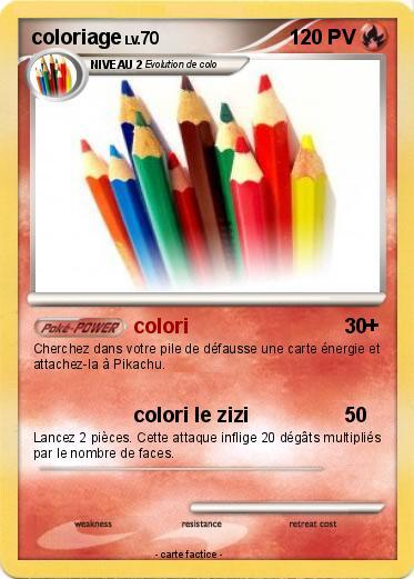 Pok mon coloriage 1 1 colori ma carte pok mon - Coloriage de carte pokemon ...