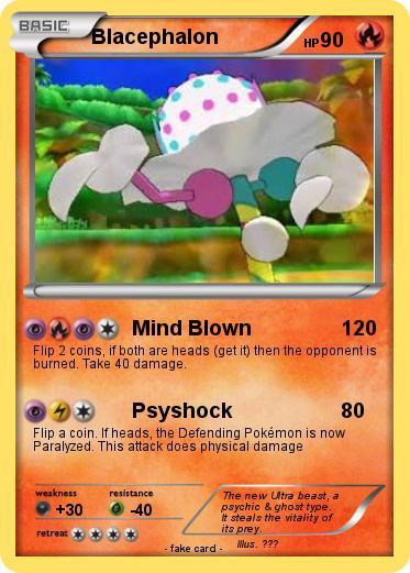 Pokémon Blacephalon - Mind Blown - My Pokemon Card
