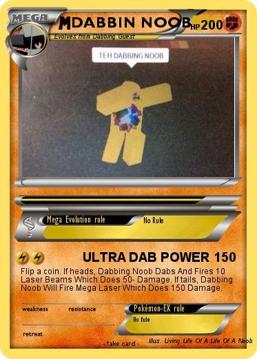 Pokémon Dabbin Noob Ultra Dab Power My Pokemon Card