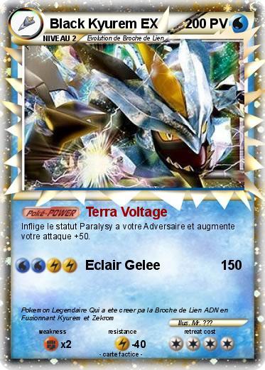 Pok mon black kyurem ex 14 14 terra voltage ma carte - Carte pokemon kyurem blanc ex ...