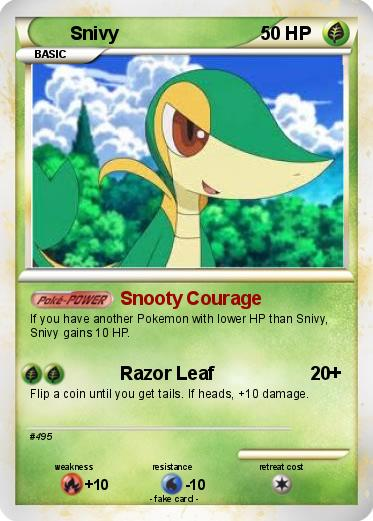 pokemon snivy coloring pages - photo#31
