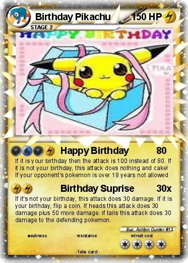 Pokmon birthday pikachu 14 14 happy birthday my pokemon card pokemon birthday pikachu language card english bookmarktalkfo Gallery