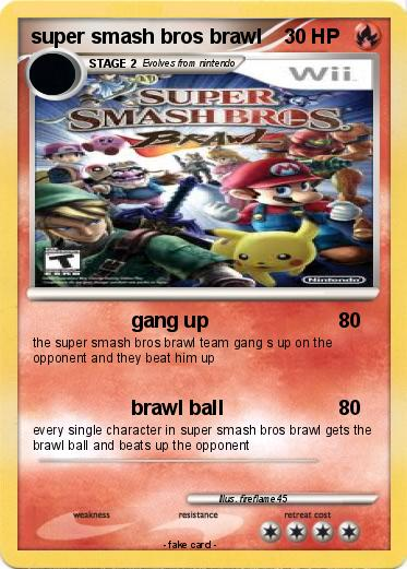 Pokémon super smash bros brawl 20 20 - gang up - My Pokemon Card