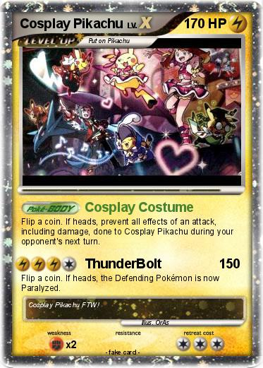 Pokemon Cosplay Pikachu 4 4 Cosplay Costume My Pokemon Card